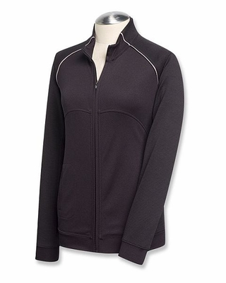 Cutter & Buck Women's Jacket: 100% Polyester Edge Full-Zip (LCK08514)