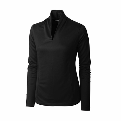 Cutter & Buck Women's Jersey: Kavanagh 3/4-Sleeve V-Neck (LCK02510)