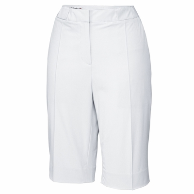 Cutter & Buck Women's Shorts: White Pintuck Stretch Twill (LCB04671)