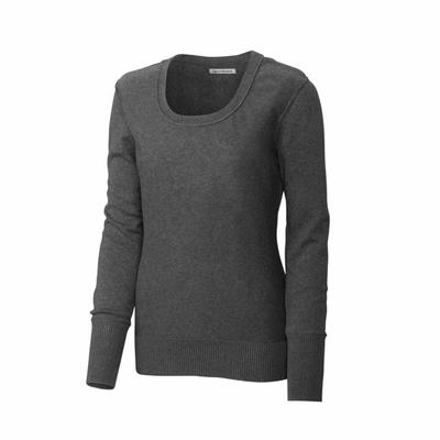 Cutter & Buck Women's Sweater: 100% Combed Cotton Broadview Scoop Neck (LCS04758)