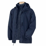 Devon & Jones Men's Jacket: 3-in-1 Water Repellant Hooded (D981)