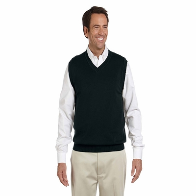Devon & Jones Men's Vest: 100% Cotton V-Neck (D477)