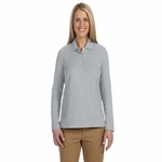 Devon & Jones Women's Polo Shirt: 100% Pima Cotton Pique Long-Sleeve (D110W)