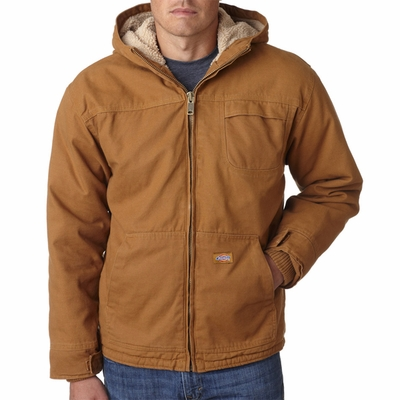 Dickies Men's Jacket: Sherpa Lined Industrial w/ Hood (TJ350)