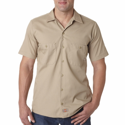 Dickies Men's Poplin Shirt: (LS535)