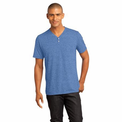 District Made Men's Henley: (DM342)