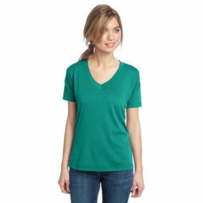 District Made Women's T-Shirt: Modal Blend Relaxed V-Neck(DM480)
