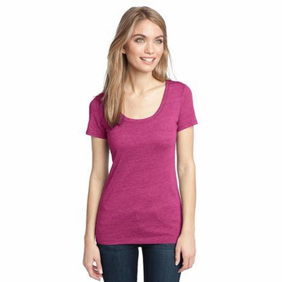 District Made Women's T-Shirt: Textured Scoop Neck(DM471)
