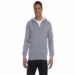 Men's 7 oz. Organic/Recycled Heathered Full-Zip Hood: (EC5680)