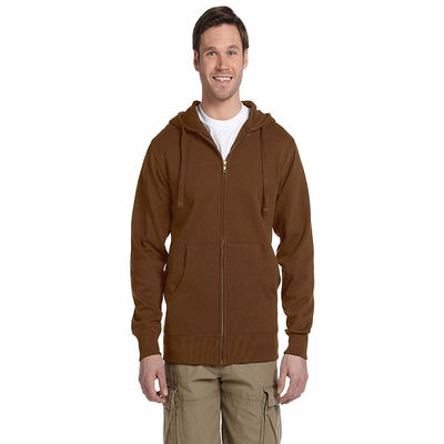 Men's 9 oz. Organic/Recycled Full-Zip Hood: (EC5650)