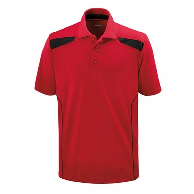Extreme Men's Polo Shirt: 5 Button Textured Polo w/ Piping (85112)