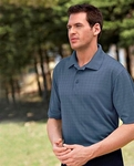 Extreme Men's Polo Shirt: Eperformance Jacquard Windowpane (85094)