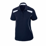 Extreme Women's Polo Shirt: 5 Button Textured Polo w/ Piping (75112)