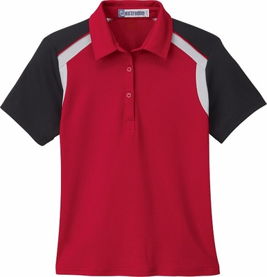 Extreme Women's Polo Shirt: Edry Color-Block (75065)