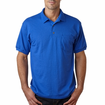 Gildan Men's Polo Shirt: 50/50 Jersey DryBlend with Pocket (G890)