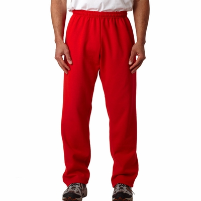Gildan Men's Sweatpants: 50/50 Heavy Blend Fleece Open Bottom (G184)