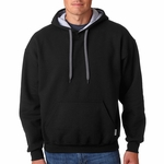 Gildan Men's Sweatshirt: 50/50 Heavy Blend Fleece Contrast Hooded Pullover (185C00)