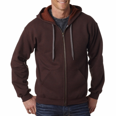 Gildan Men's Sweatshirt: 50/50 Heavy Blend Vintage Classic Hooded Full-Zip (18700)
