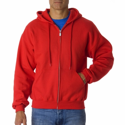 Gildan Men's Sweatshirt: 50/50 DryBlend Hooded Full-Zip (G126)