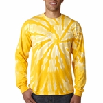 Gildan Men's T-Shirt: 100% Cotton Tie-Dye One-Color Pinwheel Long-Sleeve (89)