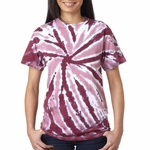 Gildan Men's T-Shirt: 100% Cotton Tie-Dye One-Color Pinwheel (77)