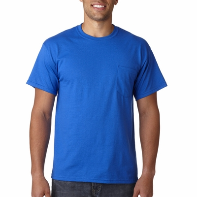 Gildan Men's T-Shirt: 50/50 DryBlend Jersey with Pocket (G830)