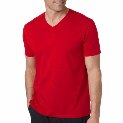 Gildan Men's T-Shirt: 100% Cotton Softstyle V-Neck (64V00)