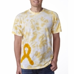 Gildan Men's T-Shirt: 100% Cotton Tie-Dye Awareness Ribbon (65)
