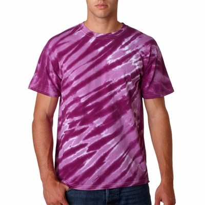 Gildan Men's T-Shirt: 100% Cotton Tie-Dye Tiger Stripe (95)