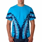 Gildan Men's T-Shirt: Tie-Dye Multi-Color V (96)
