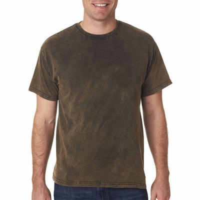 Gildan Tie-Dye Men's T-Shirt: 100% Cotton Volcano-Wash