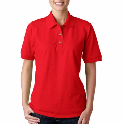 Gildan Women's Polo Shirt: 100% Cotton Ultra Pique (G380L)