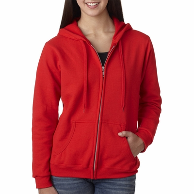 Gildan Women's Sweatshirt: 50/50 Heavy Blend Hooded Full-Zip (18600FL)