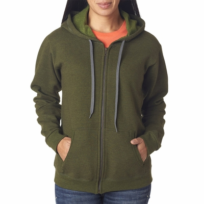 Gildan Women's Sweatshirt: 50/50 Heavy Blend Vintage Hooded Full-Zip (18700FL)