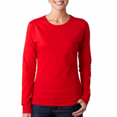 Gildan Junior Women's T-Shirt: 100% Cotton SoftStyle Long-Sleeve (G644L)