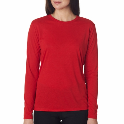 Gildan Women's T-Shirt: 100% Polyester Jersey Core Performance Long Sleeve (42400L)