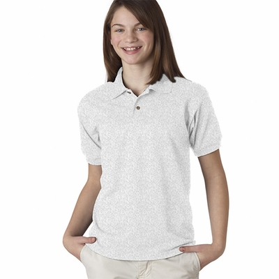 DryBlend® Youth 5.6 oz., 50/50 Jersey Polo: (G880B)