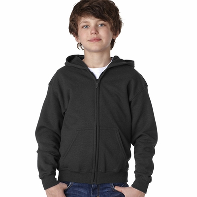 Gildan Youth Sweatshirt: 50/50 Heavy Blend Full-Zip Hood (18600B)