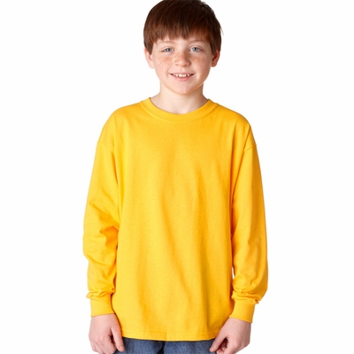 Gildan Men's T-Shirt: 100% Cotton Heavy Long Sleeve (G540)