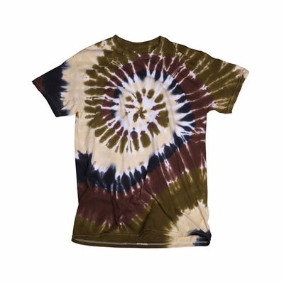 Gildan Youth T-Shirt: 100% Cotton Tie-Dye Rainbow Swirl (71)