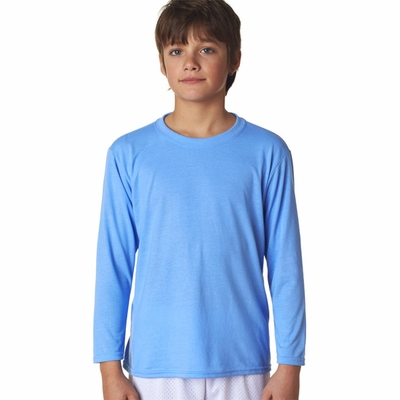 Gildan Youth T-Shirt: 100% Polyester Jersey Core Performance Long Sleeve (42400B)