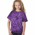 Gildan Youth T-Shirt: 100% Cotton Tie-Dye Vat-Dyed Cyclone (67B)