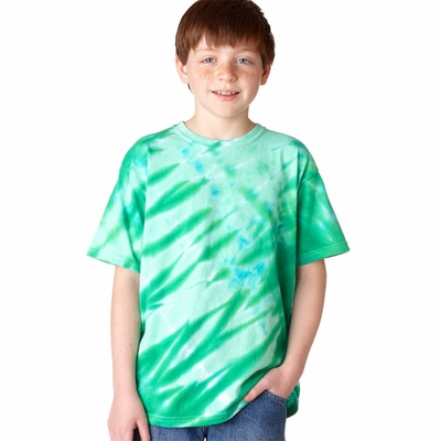 Gildan Youth T-Shirt: 100% Cotton Tie-Dye Tiger Stripe (95B)