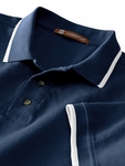6 oz. Short-Sleeve Piqué Polo with Tipping: (M210)