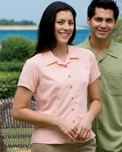 Harriton Women's Camp Shirt: Bahama Cord (M570W)