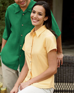 Ladies' Barbados Textured Camp Shirt: (M560W)