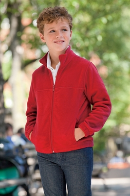 Harriton Youth Jacket: 8 oz. Full-Zip Fleece (M990Y)