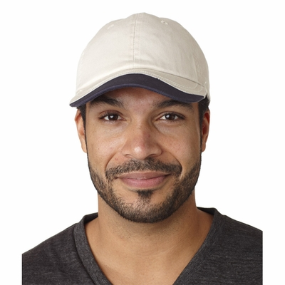 HYP Sportswear Cap: 100% Cotton Wavy Split-Color Bill (A4016)