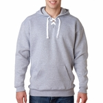 J. America Men's Sweatshirt: Cotton/Poly Blend Laced Hooded (J8830)