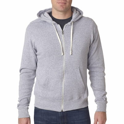 J. America Men's Sweatshirt: Tri-Blend Full Zip Hooded (J8872)